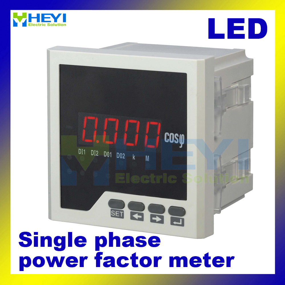 single phase digital power factor meter cos power factor indicator cos meter led hy h in power. Black Bedroom Furniture Sets. Home Design Ideas