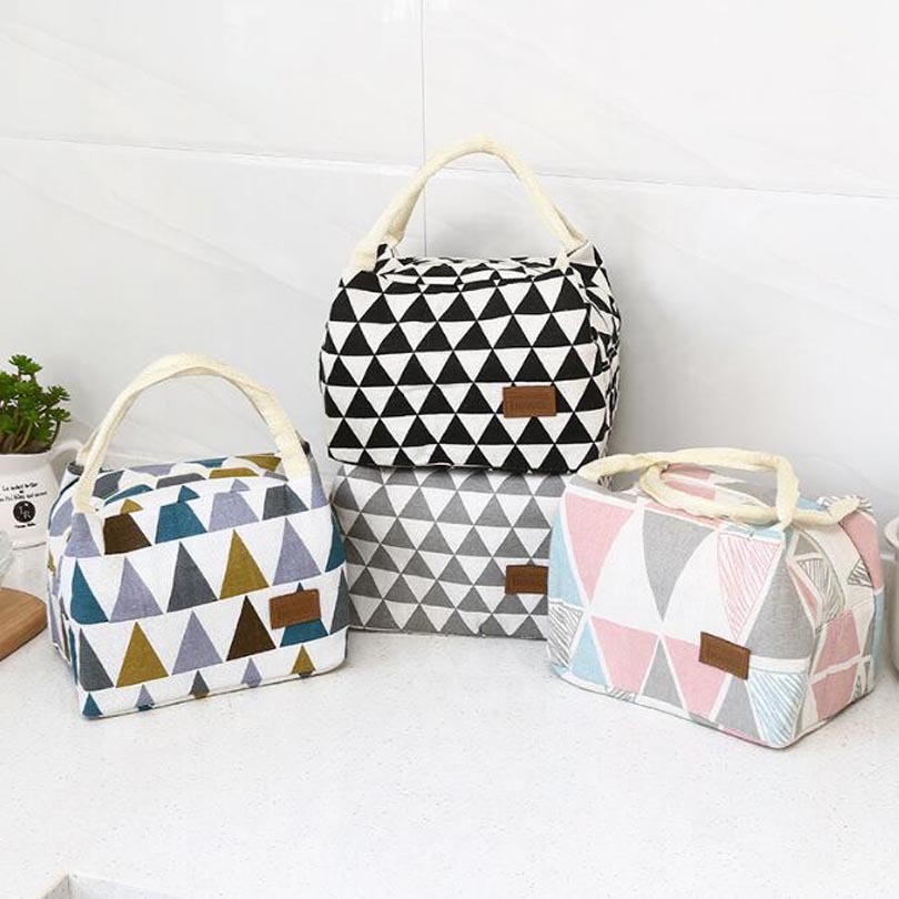 Color Simple Lunch Bag Waterproof Men Women Student Lunch Box Thermo Bag Office School Picnic Cooler Bag Lancheira Bolsa Termica