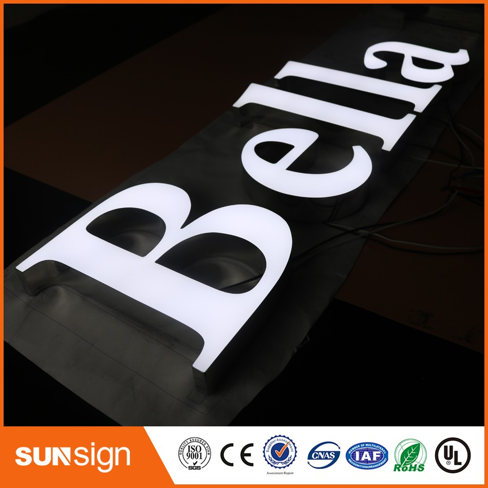 Wholesale Factory Outlet Outdoor Super High Bright Led Letters Epoxy Resin Signs