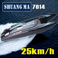 Free Shipping Double Horse DH7014 2 4G High Speed 25km H Rc Boat Toys Speedboats Shuangma