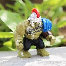 Super Hero Action Block The Avengers Hulk Buster Carnage Bane Killer Venom Gorilla Batman Model Kids Educational Toys