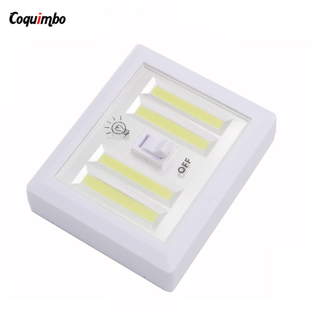Portable Cob Switch Led Night Light Battery Powered Lamp Home