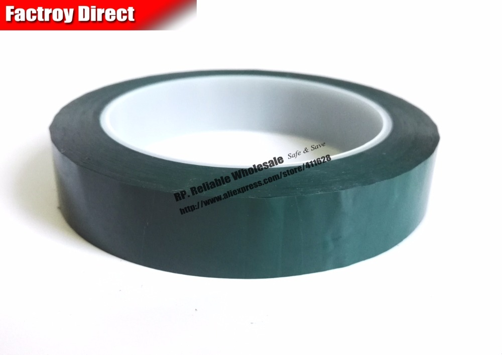 35mm*66M Single Face Glued Insulating Mylar Tape for capacitors, Fireproof, Green size 65mm 66meter single sided glued insulating mylar tape for transformers fasten blue
