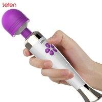 Leten recarregável poderoso av magic wand vibrador massageador de silicone ponto g vibradores para a mulher adulto brinquedos eróticos produtos do sexo