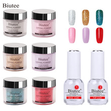 Biutee Dipping Nail Powder Base Coat Gradient French Glitter Cure Art Decorations