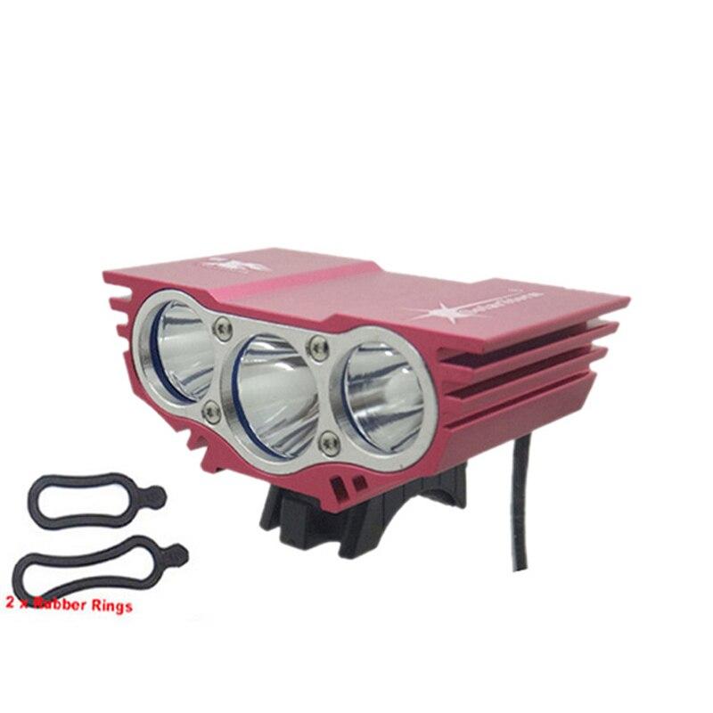 SolarStorm X3 T6 feu avant de bicyclette + anneau o 6000 Lumens, 4 Modes, XM-L 3T6, LED