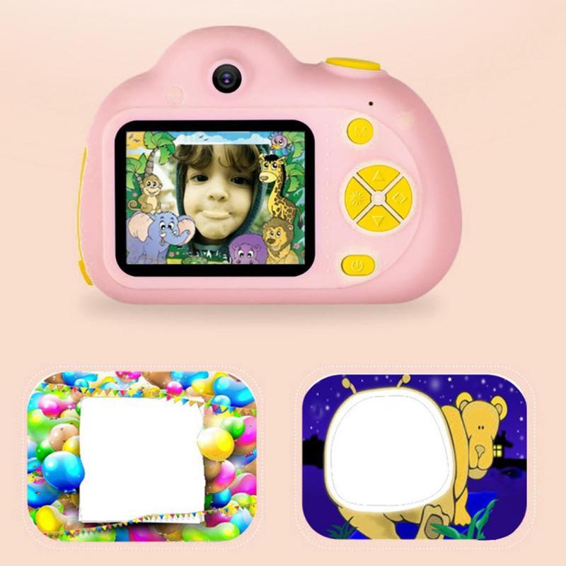 Enfants jouet caméras 16G 2 pouces HD écran 800W Pixel numérique Mini caméra pour enfants + lecteur de carte carte mémoire caméra numérique - 5
