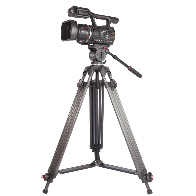Jie Yang  professional  JY0606C Aluminum Professional Tripod for camera stand / DSLR video tripods / Fluid Head Damping