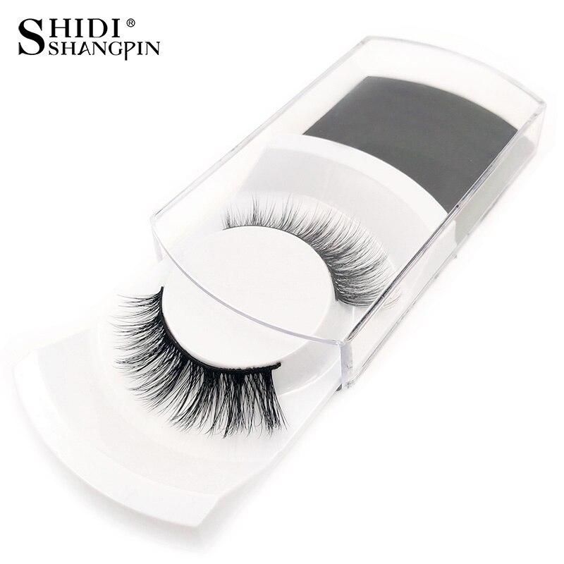 SHIDISHANGPIN 1 Pair False Eyelashes Natural Long Makeup Eyelash Extension Hand Made Mink Eyelashes 3d Mink Lashes False Eyelash