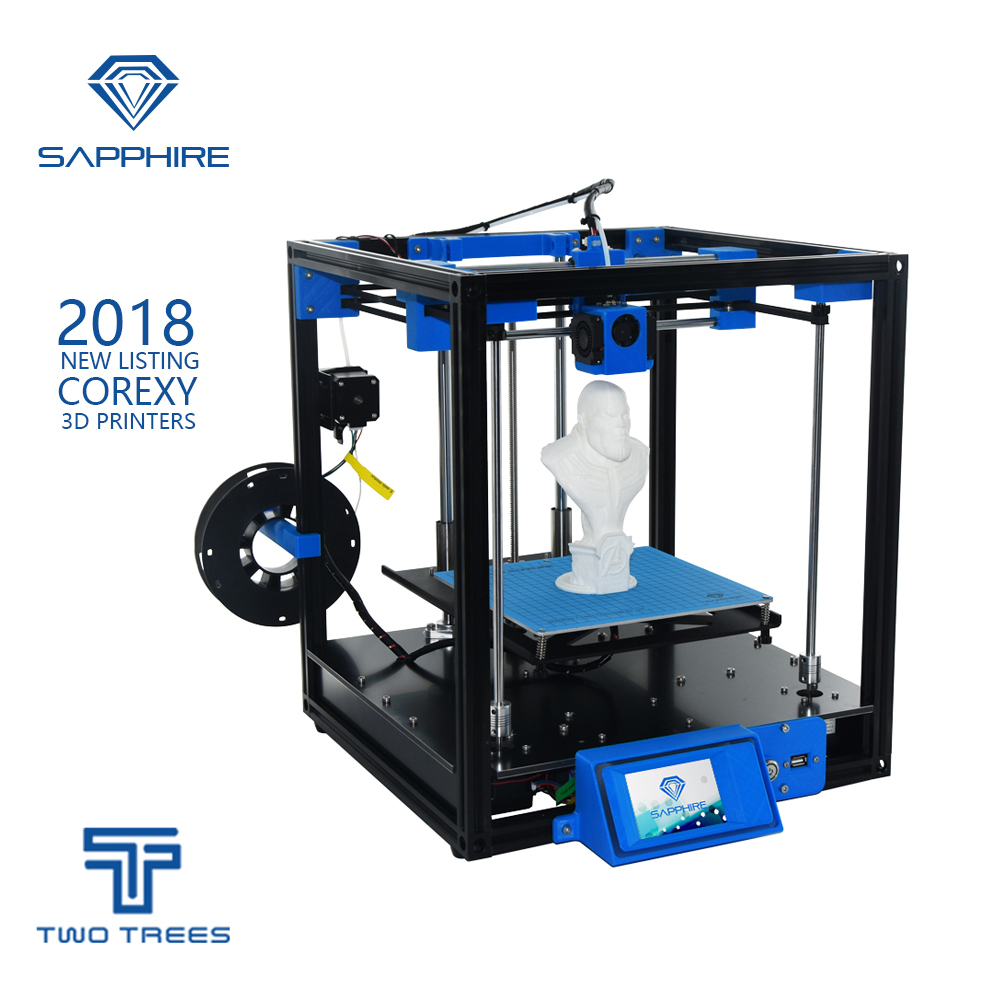 TWO TREES 3D Printer High-precision Sapphire Aluminium Profile Frame 3d Print DIY Kit Area CoreXY System Big Area trees sunset 3d print pullover hoodie