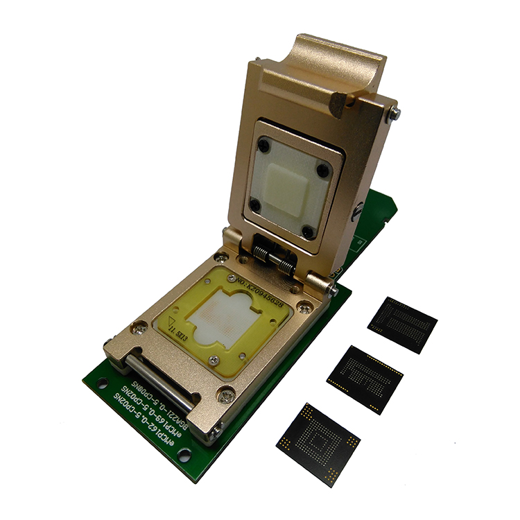 3 IN 1 eMMC153/169 eMCP162/186 eMCP221 Test Socket Reader BGA153 BGA169 BGA162 BGA186 BGA221 Data Recovery 11.5x13mm 12x16mm emmc programmer socket emmc153 emmc169 reader clamshell structure bga153 bga169 chip socket data recovery date backup repair