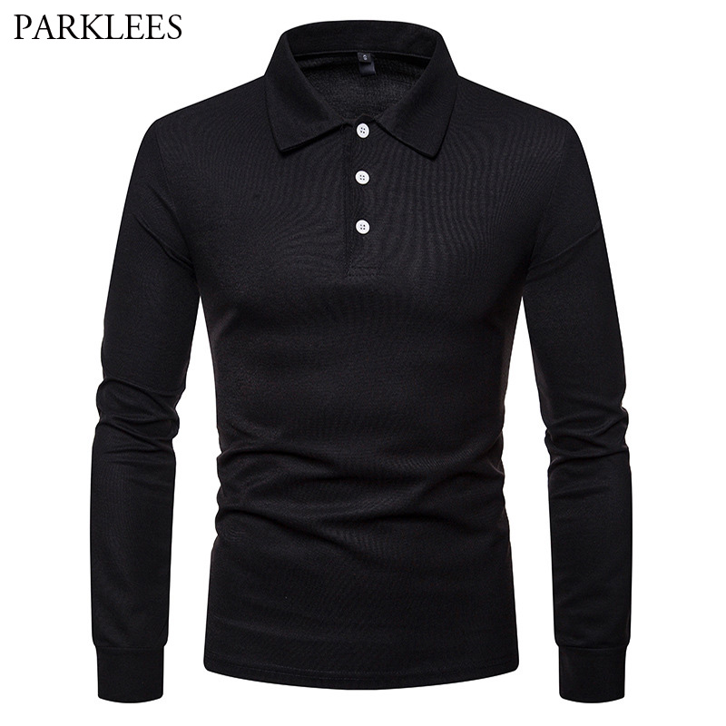 Solid Color   Polo   Shirt Men 2018 Autumn New Long Sleeve Breathable Mens   Polo   Shirts Slim Fit Casual   Polos   Shirt Male   Polo   Hombre