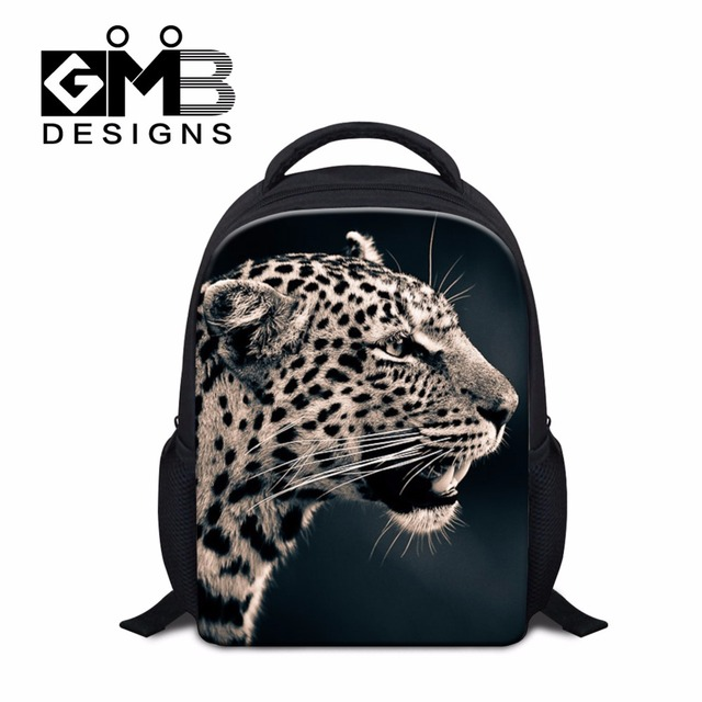 b066022ba0a1 Leopard backpacks for little kids Tiger Printing School bags for Children  Small Back Pack for Boys