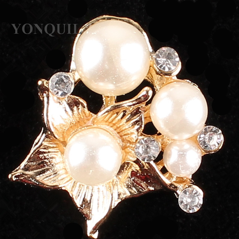 2017 Stylish flower shape brooch peals brooches material crystal decor rhinestone DIY hat Jewelry accessories 15pcs/lot SYBB114
