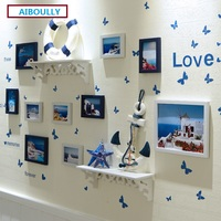 AIBOULLY European Stype Home Design Wedding Love Photo Frame Wall Decoration Wooden Picture Frame Set Wall