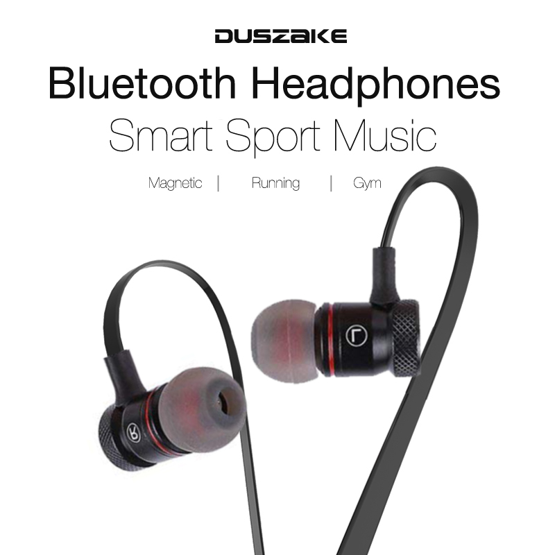 DUSZAKE L16 Magnetic Wireless Bluetooth Earphone For Phone Bass Headphone Wireless Bluetooth Earphone For Xiaomi Phone Running