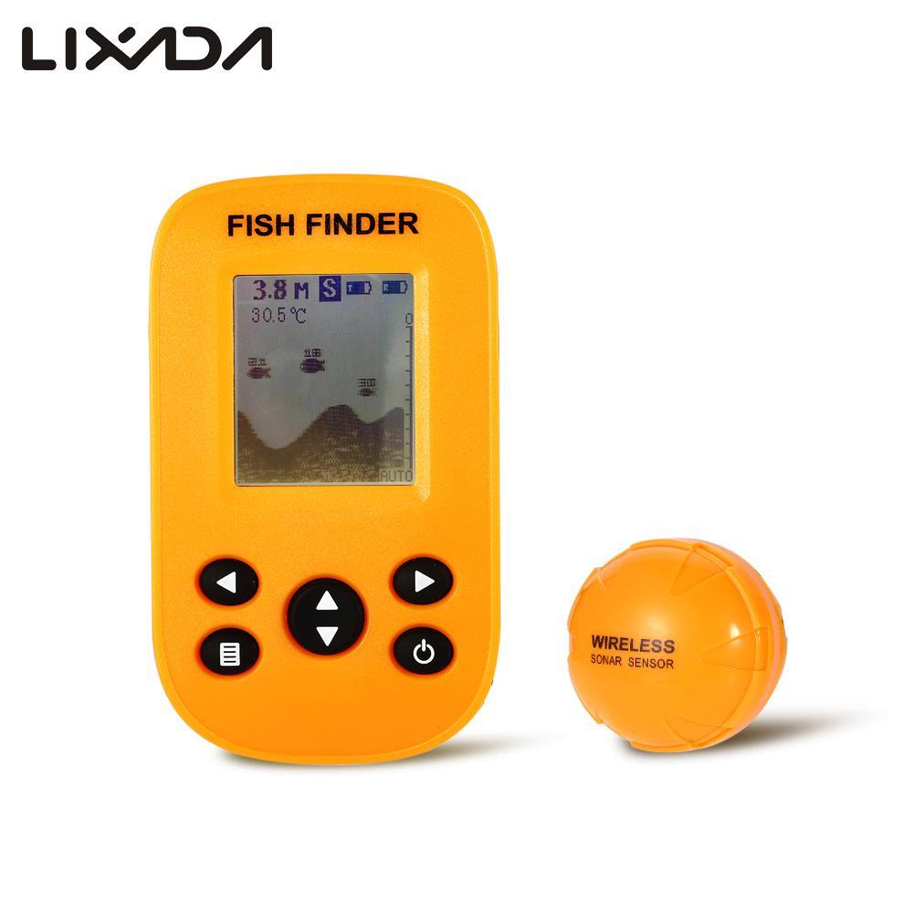 Détecteur de poisson Portable X9 sans fil LCD rétro-éclairage écho Sonar capteur 100 m profondeur détecteur de pêche alarme pour lac rivière pêche en mer