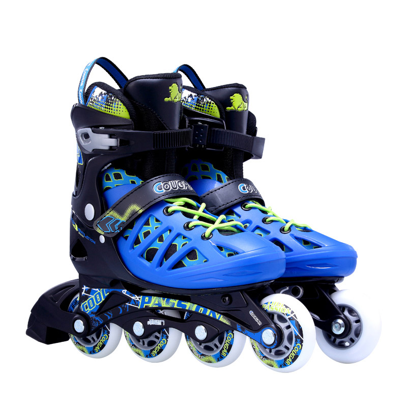 Original Cougar MZS308N Size Adjustable Street Leisure Inline Skates Roller Shoes Free Skating Patines Adulto Patins Sneakers 16 pcs 85a 92a quality pu inline roller skates wheels 72 76 80mm high elasticity freestyle roller blade rodas fsk sliding ruedas