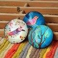 Cor Pássaro Pintura Imã de geladeira Portátil Rodada Mensagem Etiqueta do Projeto Da Arte Decalque Da Parede Dos Miúdos Brinquedos Presente Da Promoção 5 pçs/lote FM059