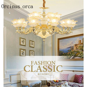 Image 4 - French crystal chandelier  luxury atmosphere villa  living room  bedroom dining lamp  European style retro garden Chandelier