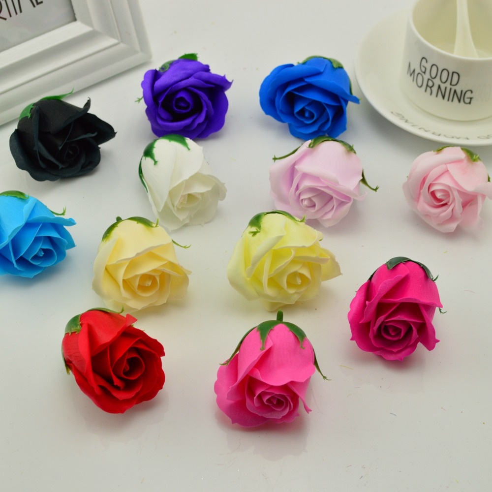 5x6cm Cheap Soap Rose Head Romantic Wedding Valentines Day Gift