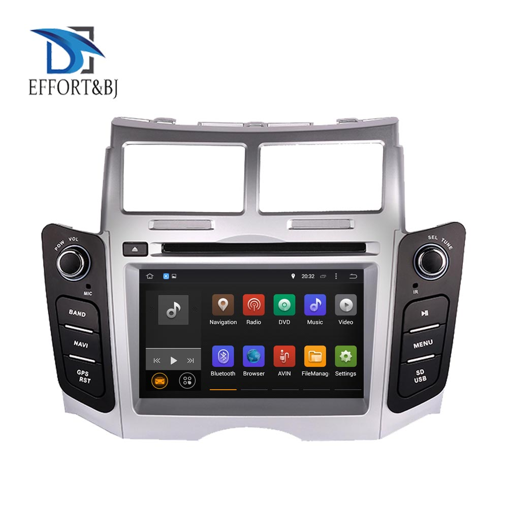 8 Core RAM 4GB Android 9.0 BT WIFI Car Stereo Screen Radio For Toyota Yaris 2005 2011 Car DVD Multimedia Player GPS Navigation