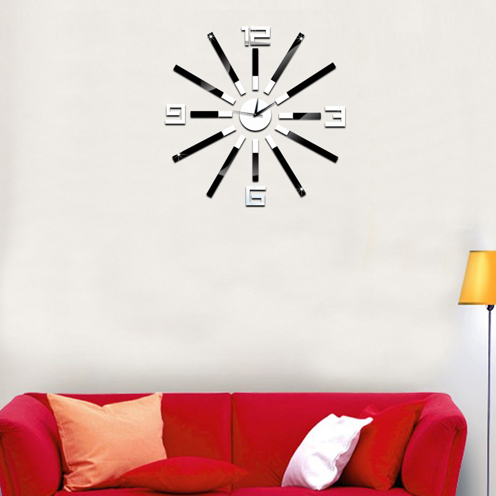 2017 new fashion mute diy mirror wall clock wall stickers clock 2017 new fashion mute diy mirror wall clock wall stickers clock hot creative home wall clock western style simple clock in wall clocks from home garden amipublicfo Gallery