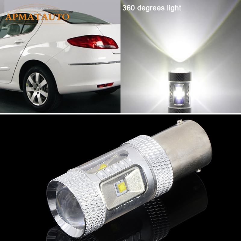 Voor Peugeot 206207307308308406407507508 1156 P21W High Power XBD Chips Foutloos 12 V LED Auto Reverse Lamp Achterlicht