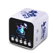 HAOBA Mini Portable LED Speaker Support MP3 TF/SD Card U Disk FM Radio For Mobile Phone Headphone