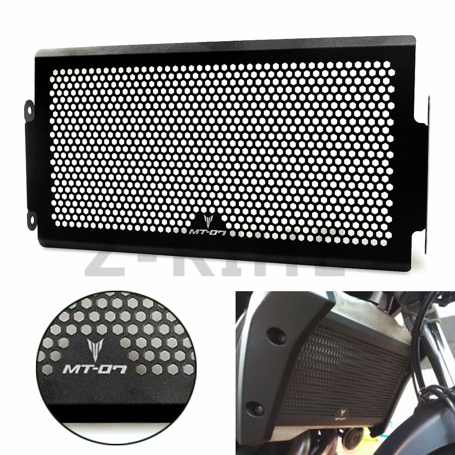 For Free shipping Radiator Protective Cover Grill Guard For Yamaha MT-07 FZ07 2014-2016 MT07 XSR700 2016 Radiator Grille Guards motorcycle radiator grill grille guard screen cover protector tank water black for bmw f800r 2009 2010 2011 2012 2013 2014