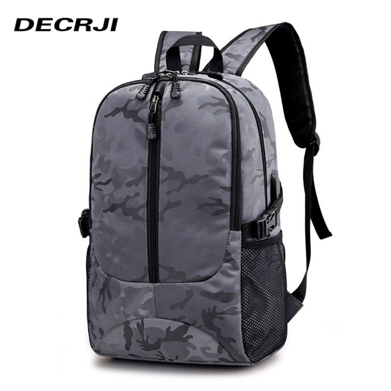 DECRJI USB Laptop Backpack Men Women Travel Unisex Rucksack Mens Backpack Bag Vintage School Backpacks For Teenage Casual 2018
