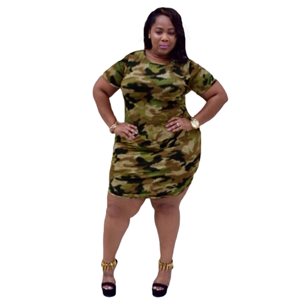 Nice New Style Summer Dress Sexy Women Mini Dress Camouflage Print O