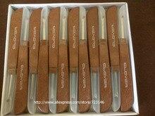 Poignée en bois en acier pour couture, 100 pièces/lot, outil artisanal pour couture