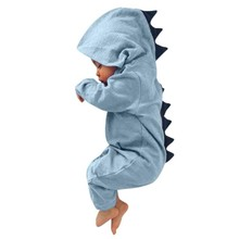 Baby Dinosaur Hooded Romper Outfit