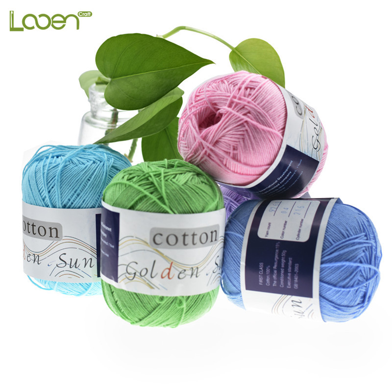 6 Pcs/lot Looen Yarn Knitting Ball 100% Cotton Warm DIY Baby for Weave Thread For Women Mom Gift