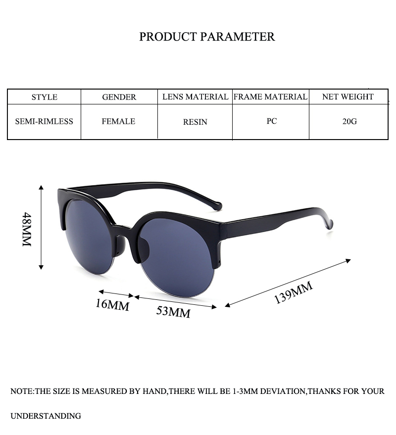 2 sunglasses round mirror