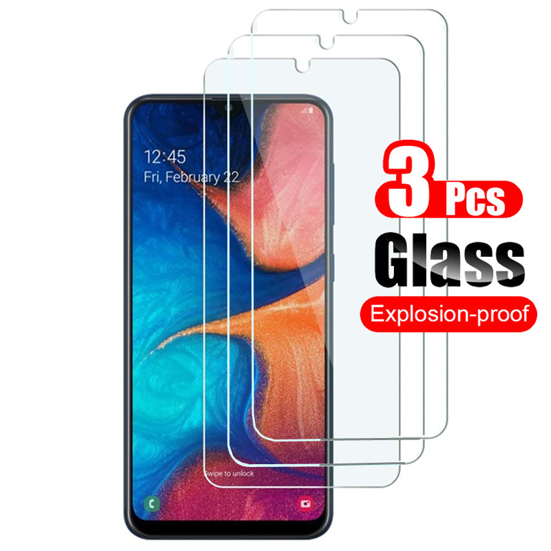3Pcs Tempered Glass For Samsung Galaxy A10 A20 A30 A40 A50 A60 A70 A80 A90 A20E Screen Protector Protective Film For M10 M20 M30