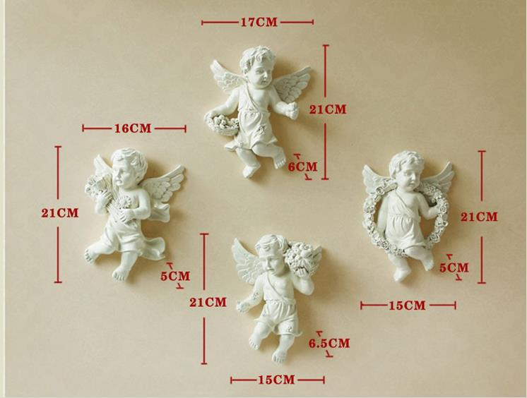 European-style resin wall Angel, wall decoration crafts, creative - Home Decor - Photo 6