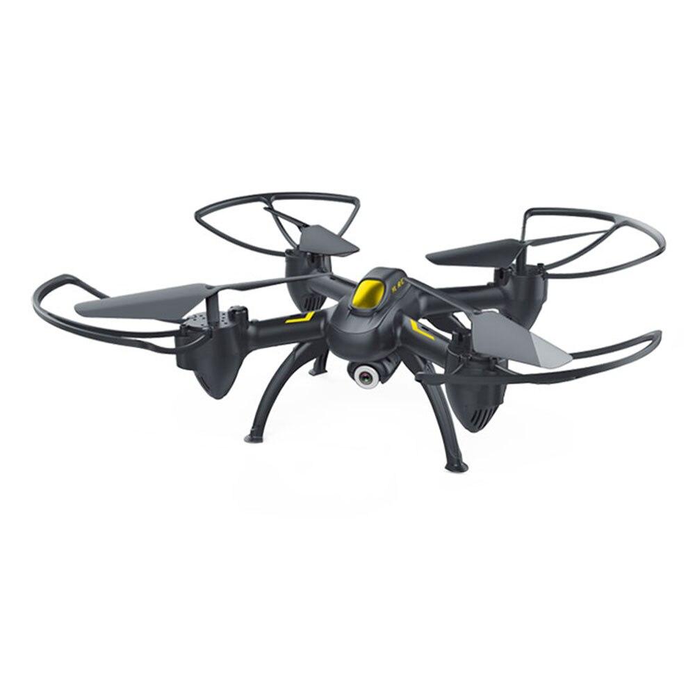 Прочный Квадрокоптер ABS Летающий беспилотник для дистанционного дрона Прямая - Цвет: black