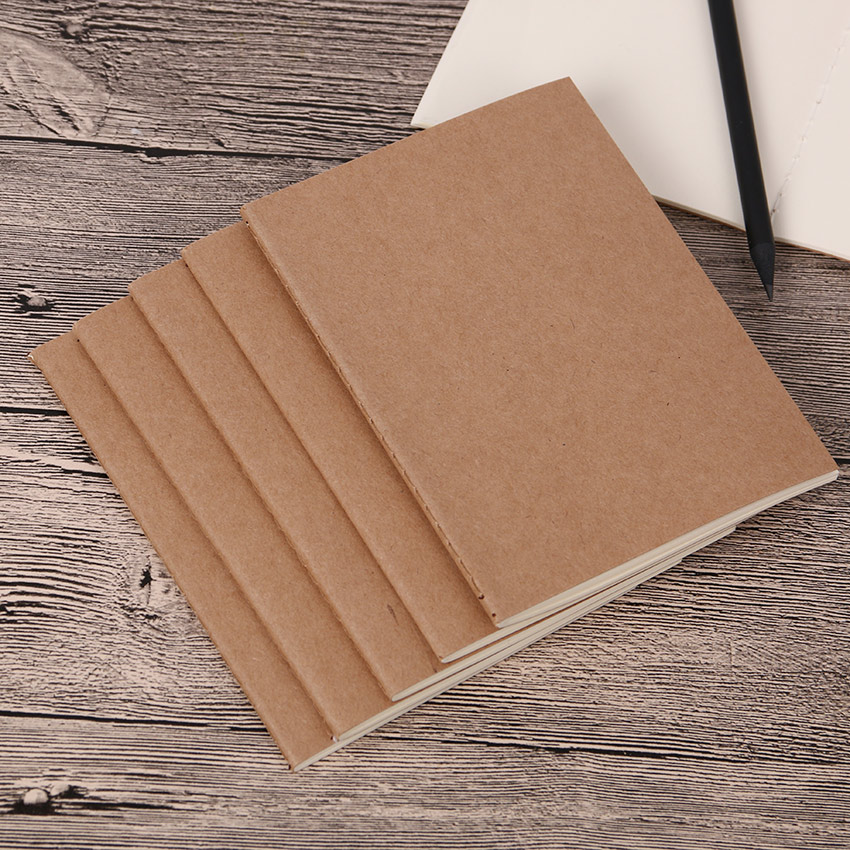 1PC Cowhide Paper Vintage Cover <font><b>Travel</b></font> <font><b>Journal</b></font> <font><b>Notebook</b></font> Blank Notepad Office School Stationery Supplies image