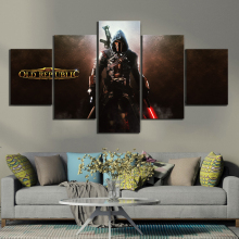 5 Piece HD Picture Star Wars The Old Republic Game Poster Paintings Artwork Fantasy Wall Art Canvas Painting for Home Decor