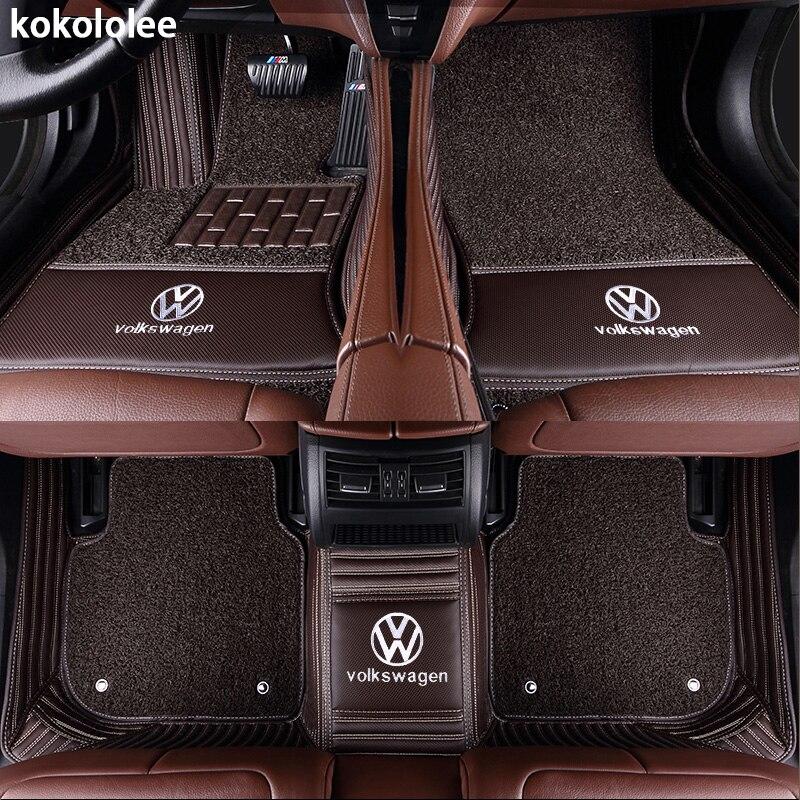 Kokololee Personnalisé de voiture tapis de sol pour Volkswagen Tous Les Modèles vw passat b5 6 polo de golf tiguan jetta touran touareg voiture styling auto - 5