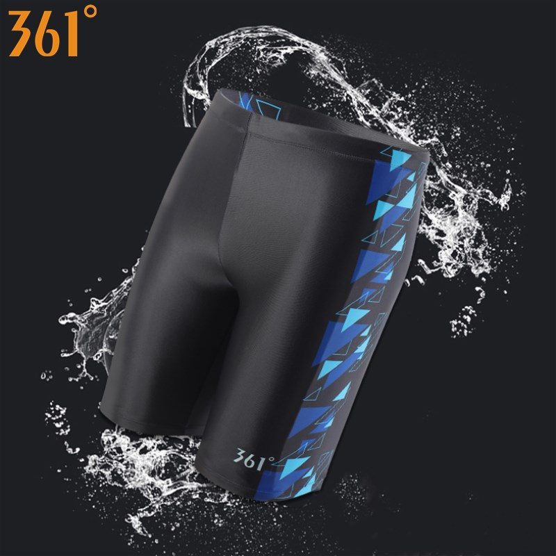 361 Chlorine Resistant Swimwear For Men Long Swimming Trunks Professional Men Swim Wear Athletic Tight Swim Shorts Boys Swimsuit