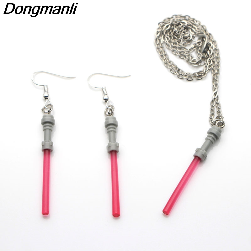 M310 Dongmanli Creative Design Star Wars Lightsaber earrings Jewelry Set Fashion Charm Dangle Earrings For Women