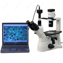 Tissue Culture Microscope–AmScope Supplies 40X-600X Infinity Phase Contrast Inverted Tissue Culture Microscope + 8MP Camera