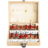 12pcs Milling Cutter Router Bit Set 1 2 1 4 Wood Cutter Carbide Shank Mill Woodworking