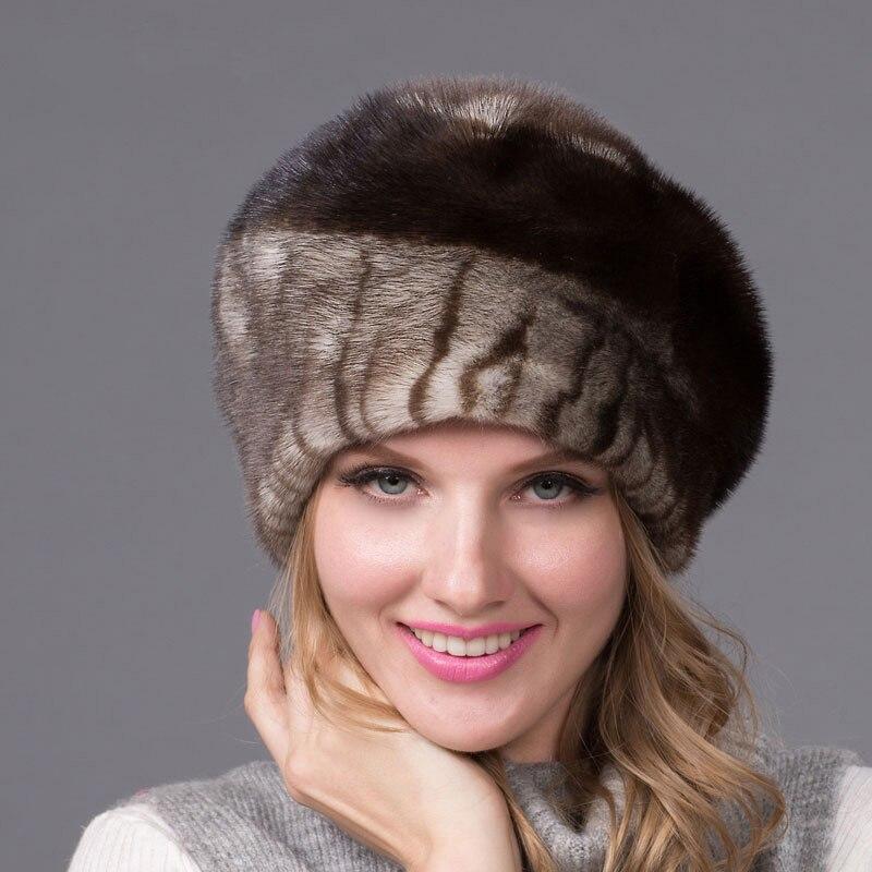 Automne et d'hiver des femmes chapeau de fourrure en cuir strass béret de chapeau de fourrure avec diamant de mode chaude femmes qualité oreilles DHY-43