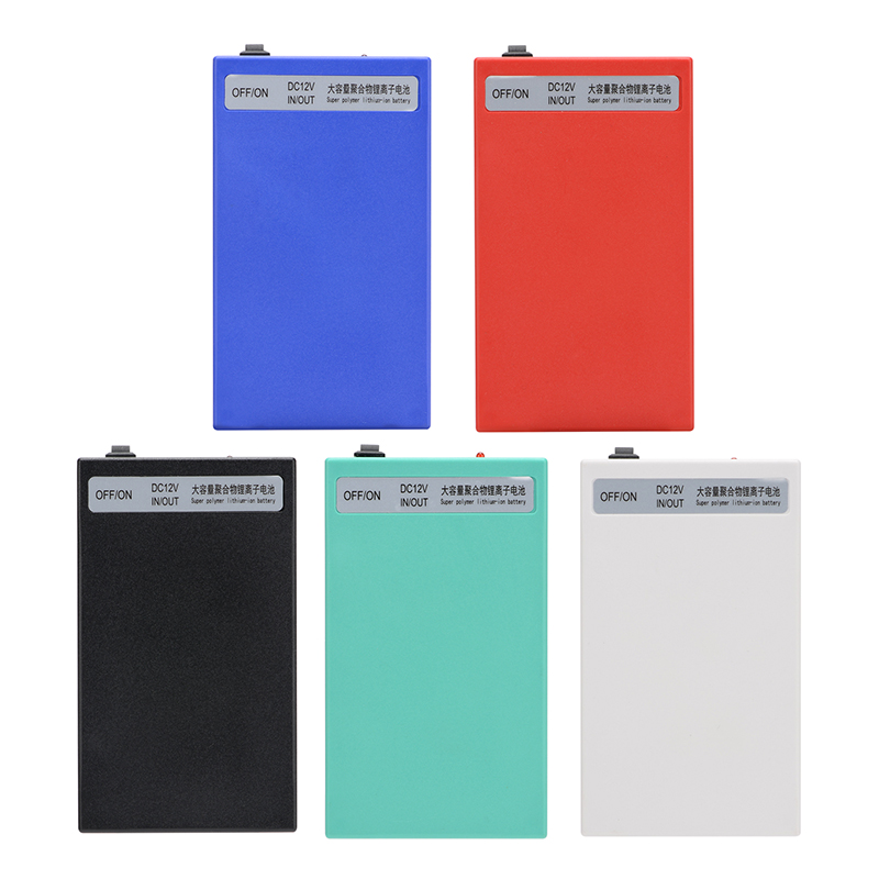 MasterFire 20pack/lot Super <font><b>DC</b></font> 12V 8000mAh Rechargeable Portable Lithium-ion Battery Batteries Pack With Case <font><b>DC</b></font>-<font><b>12800</b></font> 5 colors image