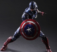 Play Arts Kai Captain America Steve Rogers Super Hero Iron Man PA 26cm PVC Action Figure Doll Toys Kids Gift Brinquedos