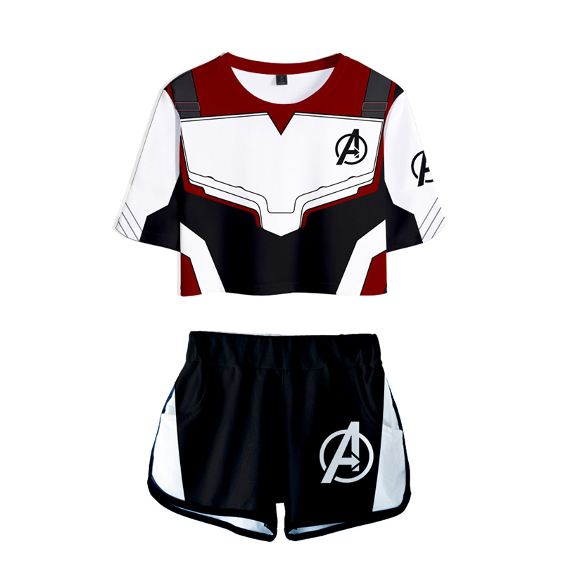 The Avengers 4 Endgame Cosplay Costumes Men Women T-shirt Tee Shorts Suit Marvel Superhero Quantum Realm Sweatshirt Sportswear
